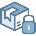 business, delivery, logistics, package, package secure, secure, shipping icon