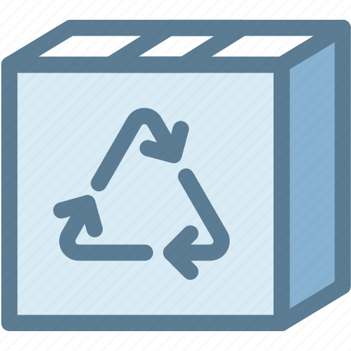 business, logistics, recycle, recycled, recycled product, recycling box, waste icon