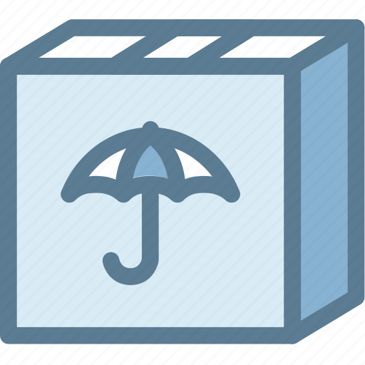 box, business, keep dry, keep dry parcel, logistics, parcel, shipping icon
