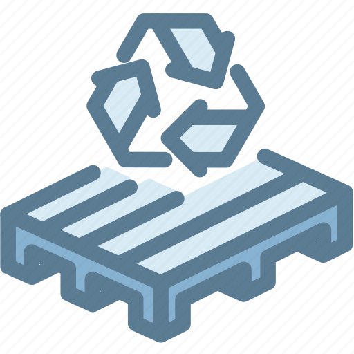 business, logistics, pallet, recycle, recycle pallet, storage, wood icon