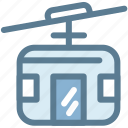 cable car, logistics, public transportation, rope, streetcar, tramway, travel icon