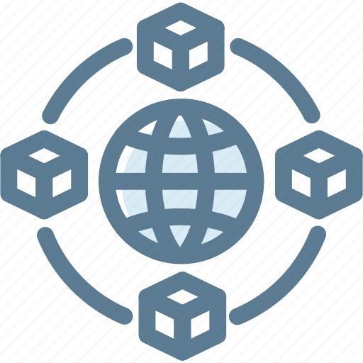 box network, business, logistics, network, ship, shipping, supply icon