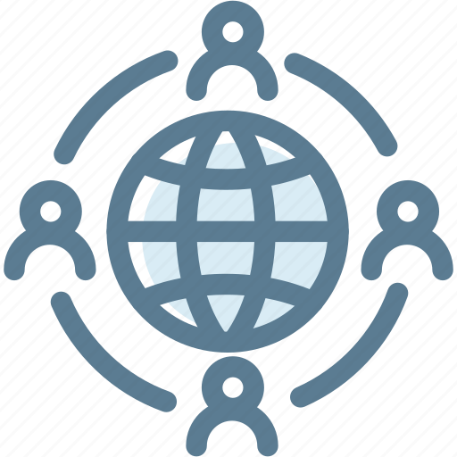 business, globe, links, logistics, network, social media icon