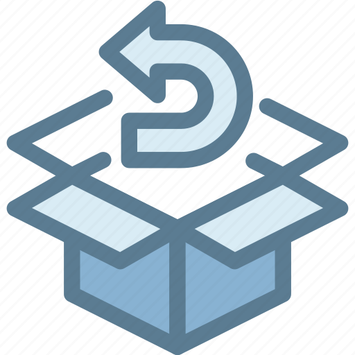 business, exchange, logistics, product, refund, reorder, return icon