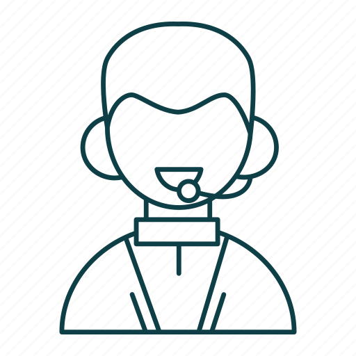 Business, customer, man, mic, outline, people, support icon - Download on Iconfinder