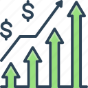 arrow, chart, diagram, growing business, management, presentation, statistic