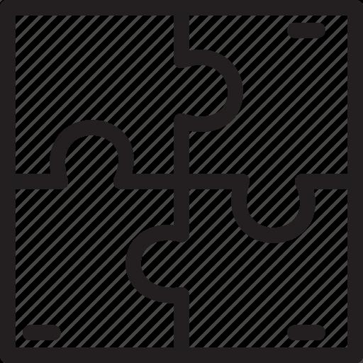 business, elements, morden, puzzle, solution icon