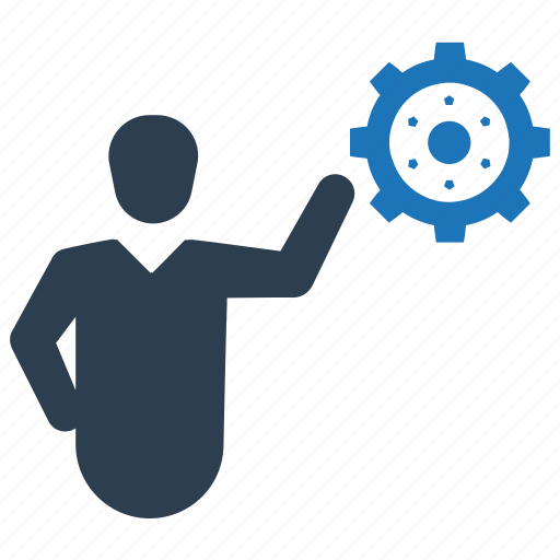 Business, businessman, gear, management, solution icon - Download on Iconfinder