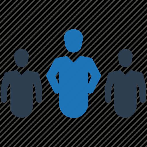 business, businessman, leader, leadership, team icon