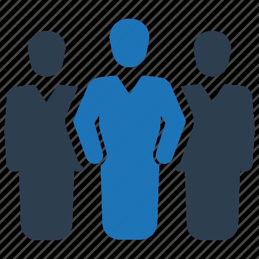 crowd, leadership, team, teamwork icon