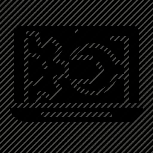 adjust, admin, computer, development, notebook, repair, technology icon