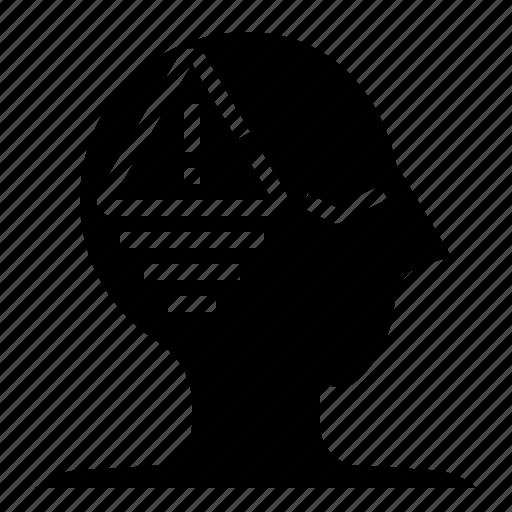 aspect, beware, imagination, mind, negative, thinking, thought icon