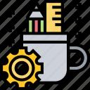 branding, stationery, product, setup, developer