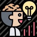 thinker, brainstorming, idea, creative, intelligence