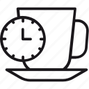 break, clock, coffee, cup, relax, tea, time icon