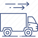delivery, fast, logistics, quick, shipping, transportation, truck icon