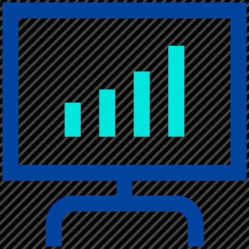 board, business, chart, finance, growth, presentation icon