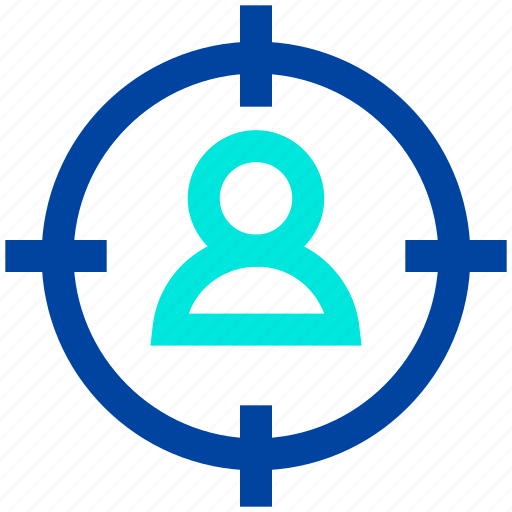 audience, customer, goal, target, user icon