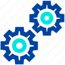 cogs, control, gears, machine, process, settings icon