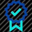 award, badge, champion, check, medal, premium, rank icon