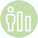 analytic, chart, graph, statistics, user