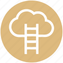 aspiration, cloud computing, cloud hosting, data cloud, stairs, technology