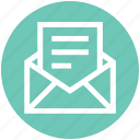 envelope, letter, mail, open, paper, post icon
