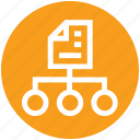 business, connection, document, management, network, paper icon