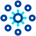 business, connection, growth, link, network icon