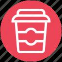 break, coffee, disposable glass, drink, glass, snack
