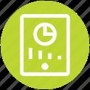 analysis, call, chart, graph, mobile, phone, pie