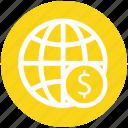 coin, digital, ecommerce, finance, globe, money, world
