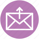 envelope, letter, mail, message, send, up arrow, upload icon