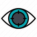 eyes, search, target, vision icon