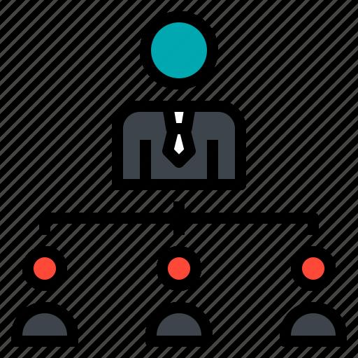 business, employee, employer, management icon
