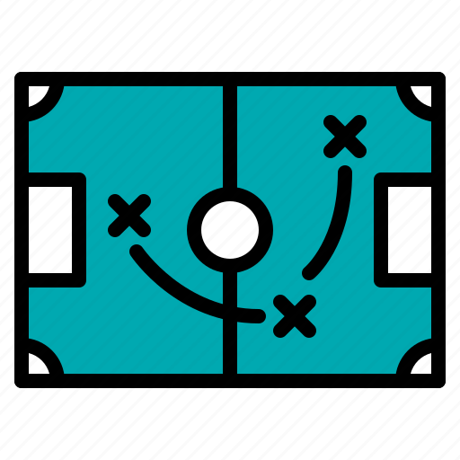 field, football, soccer, strategy icon