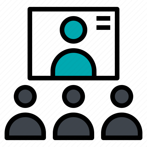 communication, conference, connection, video icon