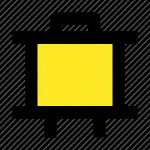 board, business, canvas, presentation, teach icon