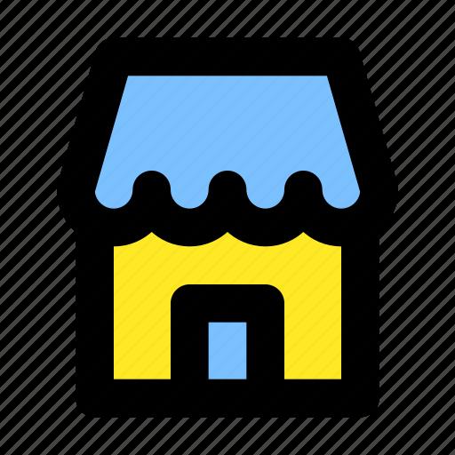 building, commerce, market, mart, store icon