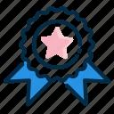 achievement, award, badge, champion, ribbon, trophy, winner