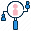 find, friend, person, profile, searching icon