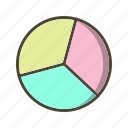 chart, graph, pie, statistics icon