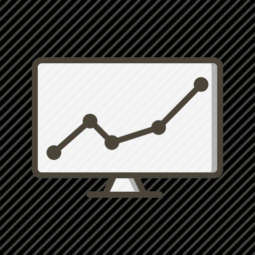exchange, graph, market, stock icon