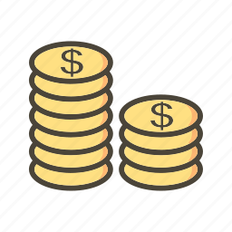 coins, currency, dollar icon