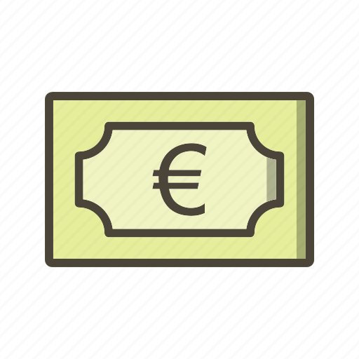bank note, currency, euro, money icon