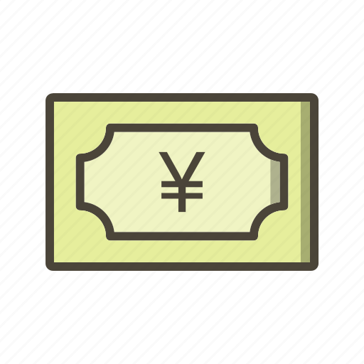bank note, currency, yen icon