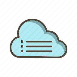 cloud, data, file icon