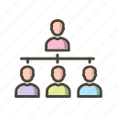 connection, group, organization, team icon