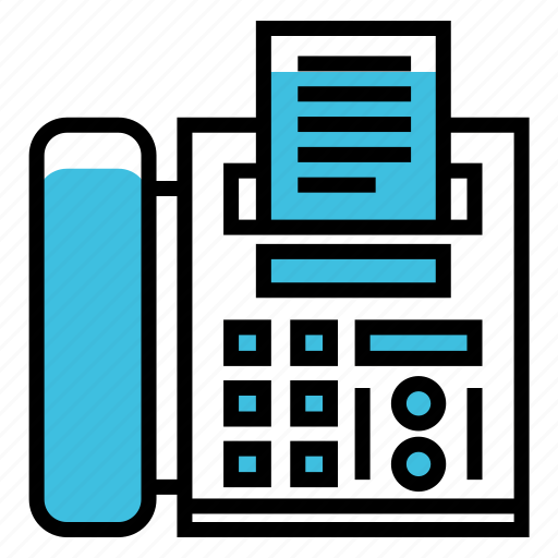 business, documents, electronics, fax, office, page, print icon