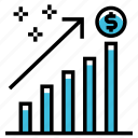 business, chart, finance, graph, marketing, profit, seo icon